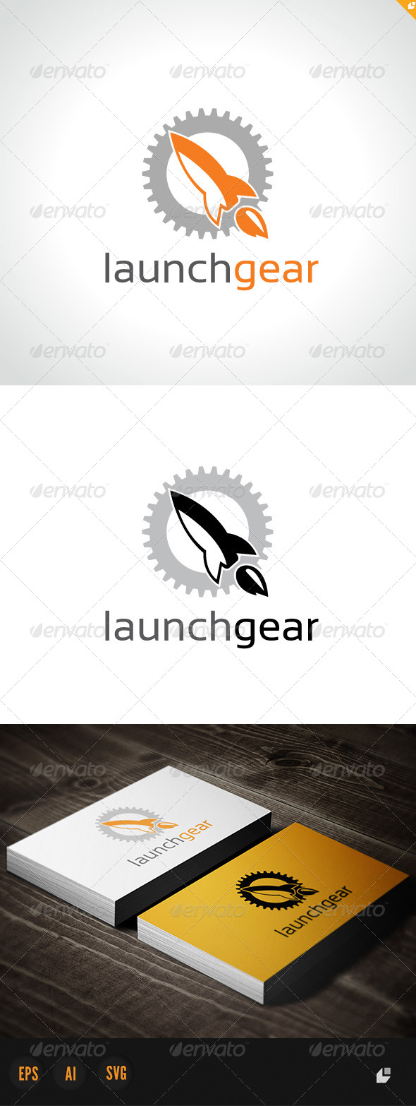 Launch Gear  - Crests Logo Templates