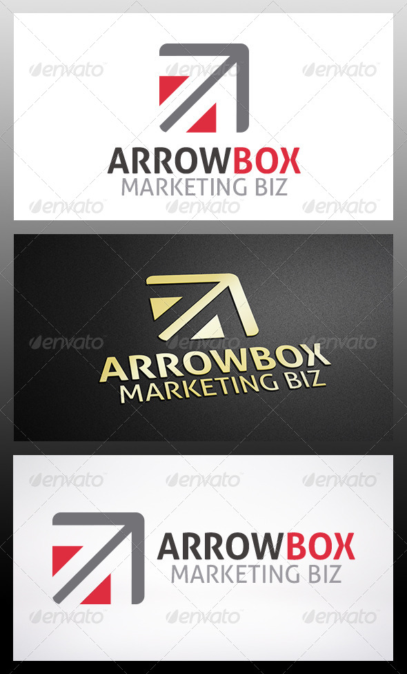 Arrow Box Logo - Vector Abstract