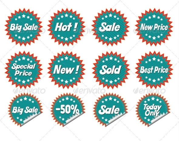 Set Stickers - Retail Commercial / Shopping