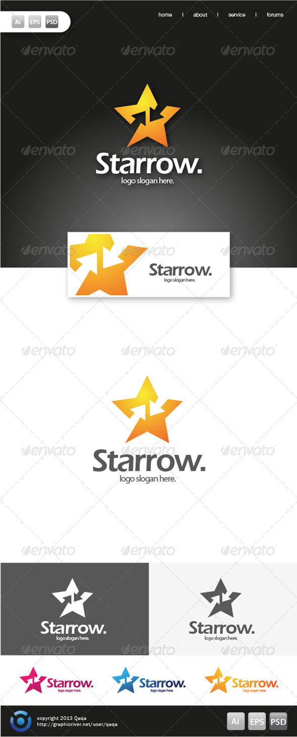 Star Arrow Logo - Symbols Logo Templates