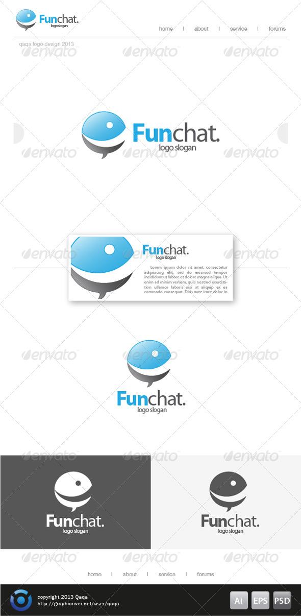 Fun Bubble Chat Logo - Symbols Logo Templates