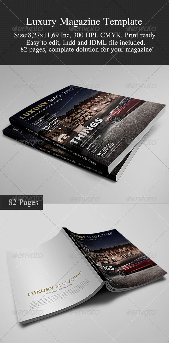 Luxury Magazine Template - Magazines Print Templates