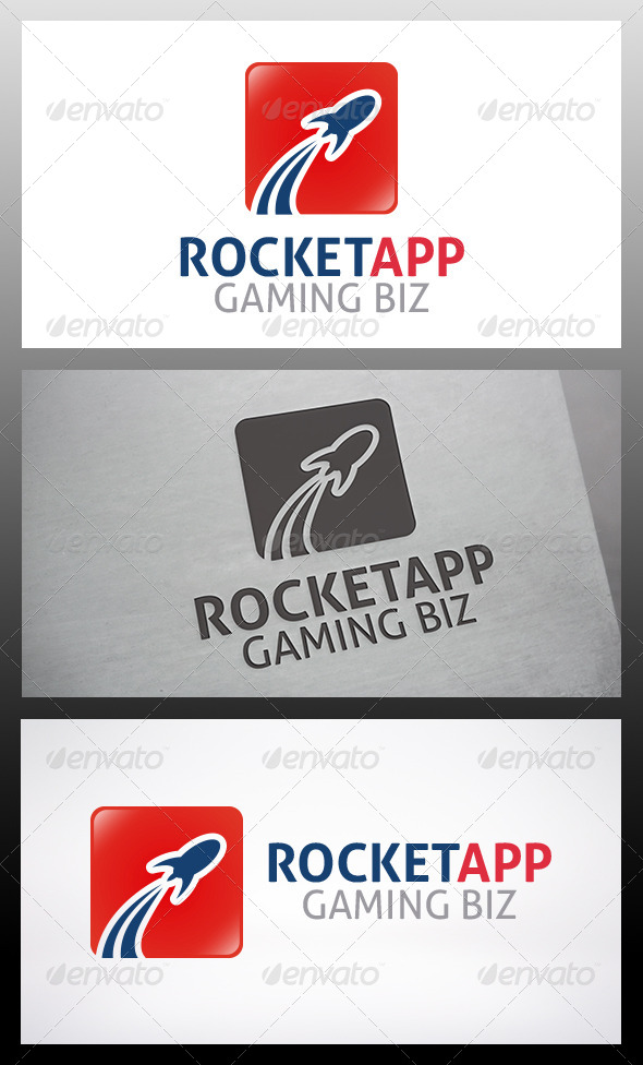 Rocket App Logo - Objects Logo Templates