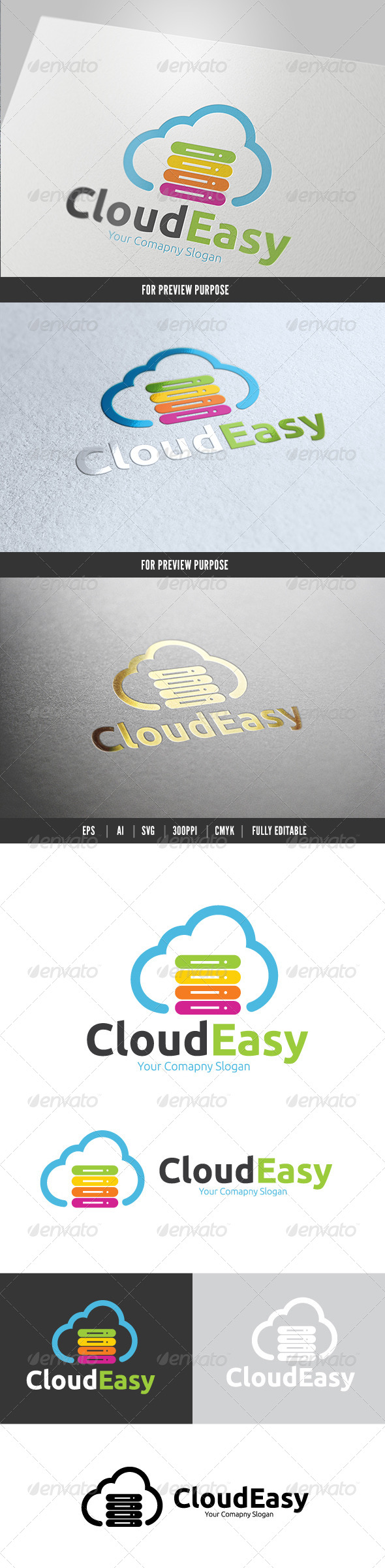 Cloud Easy - Nature Logo Templates