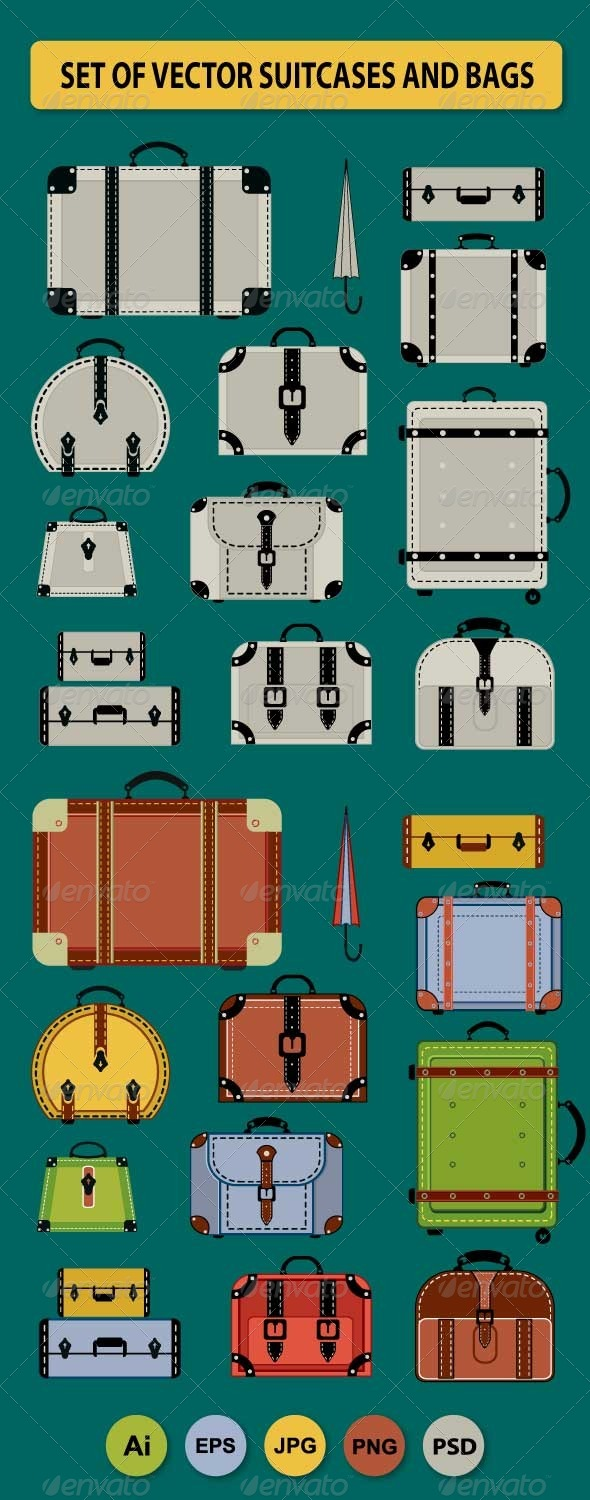 Travel Bags and Suitcases - Travel Conceptual