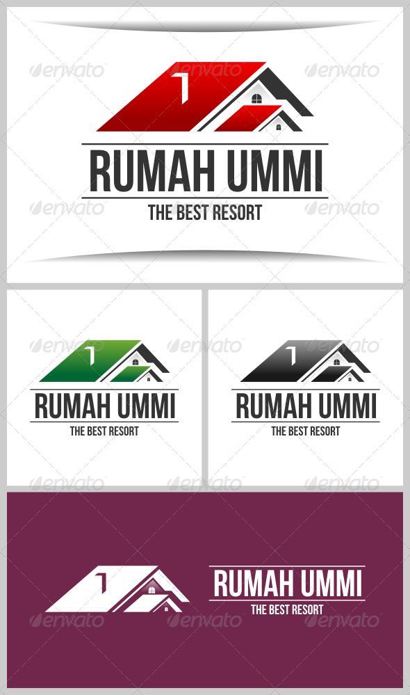 Rumah Ummi - Buildings Logo Templates