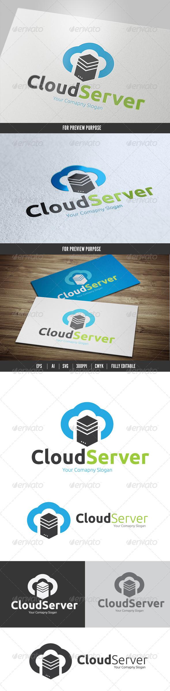 Cloud Server - Nature Logo Templates