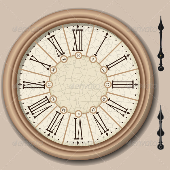 Quadrant of Victorian Clock with Lancets - Objects Vectors