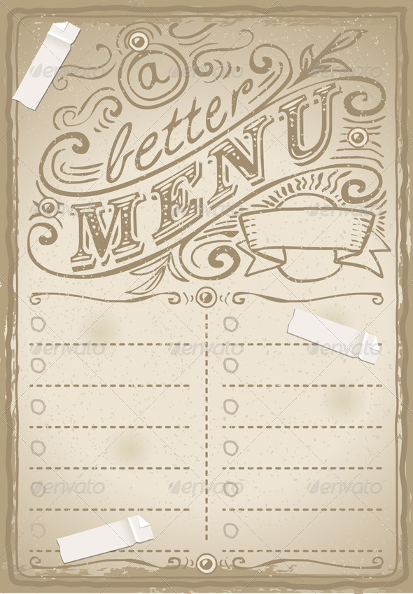 Vintage Graphic Page for Restaurant - Decorative Vectors