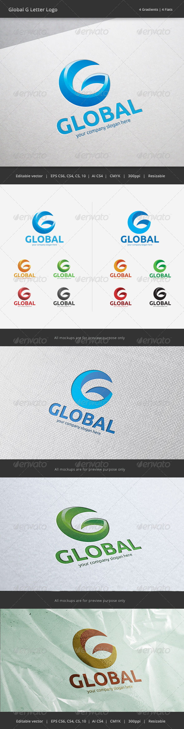 Global G Letter Logo - Letters Logo Templates