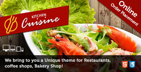 Kitchen Cuisine – Restaurants & Café HTML Template