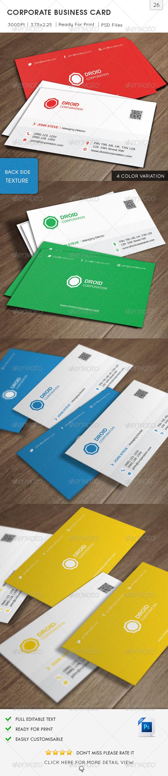 Corporate Business Card v26 - Corporate Business Cards