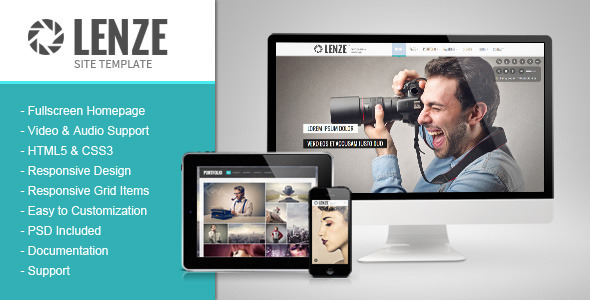 Lenze - Portfolio Photography HTML Template