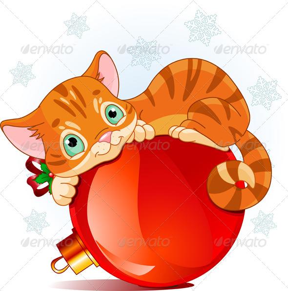Christmas Kitten - Christmas Seasons/Holidays