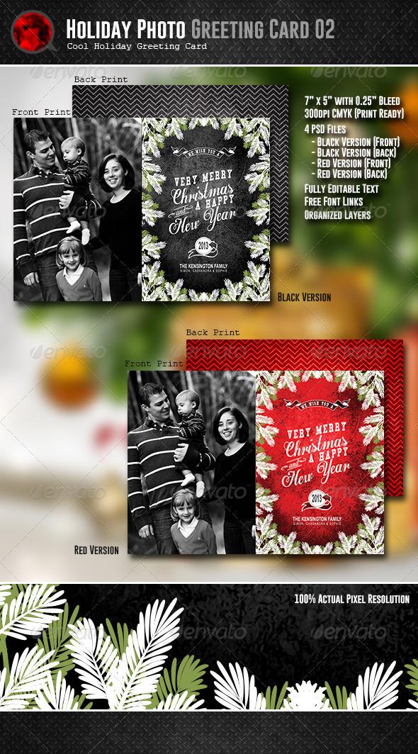 Holiday Photo Greeting Card 02 - Holiday Greeting Cards