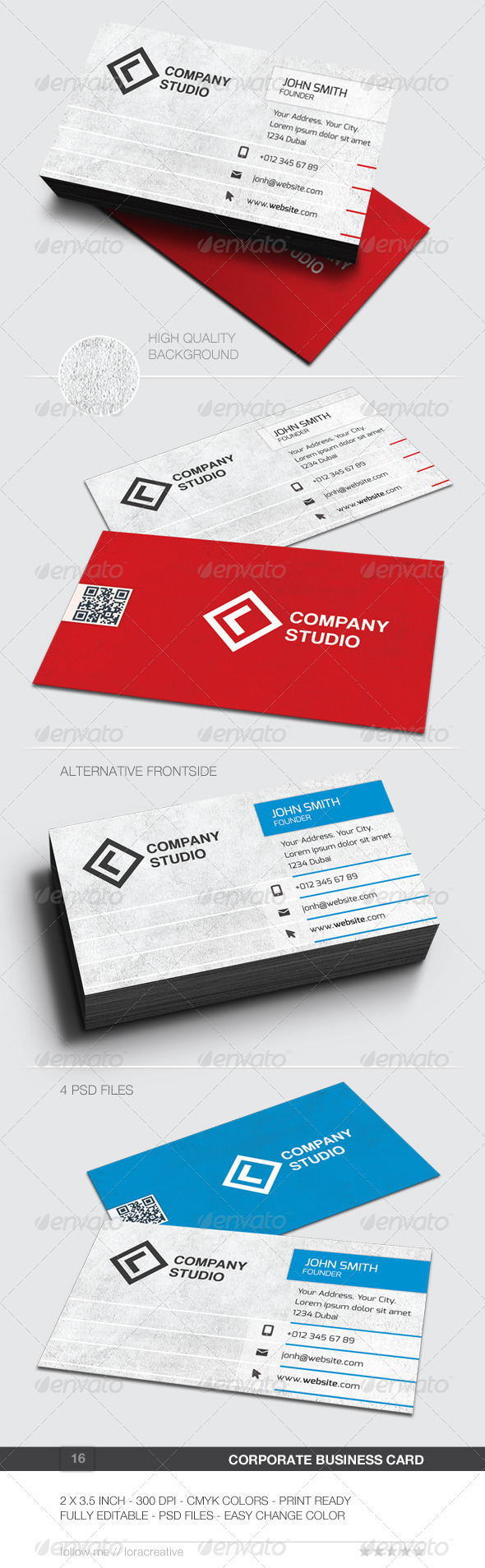 Corporate Business Card - 16 - Corporate Business Cards