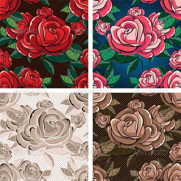 Seamless Rose Pattern - Patterns Decorative