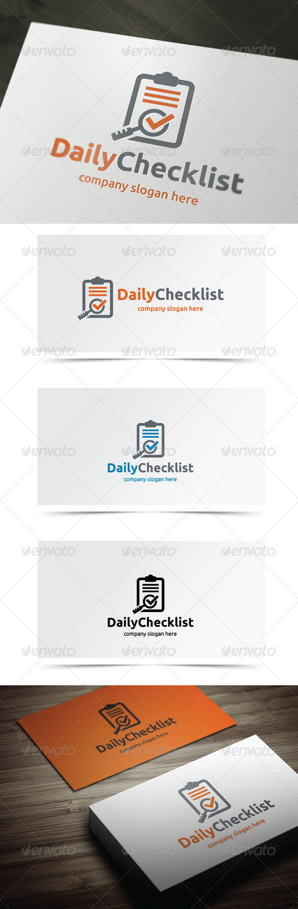 Daily Checklist - Symbols Logo Templates