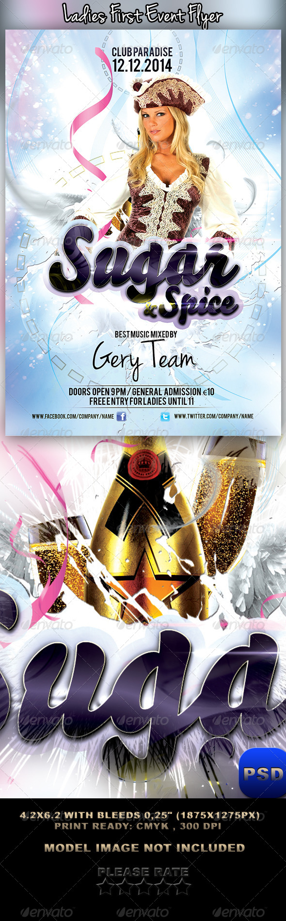 Ladies First Event Flyer - Events Flyers