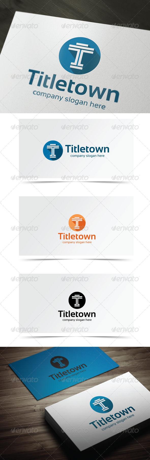 Titletown - Letters Logo Templates