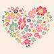 Romantic Card with Floral Heart - GraphicRiver Item for Sale