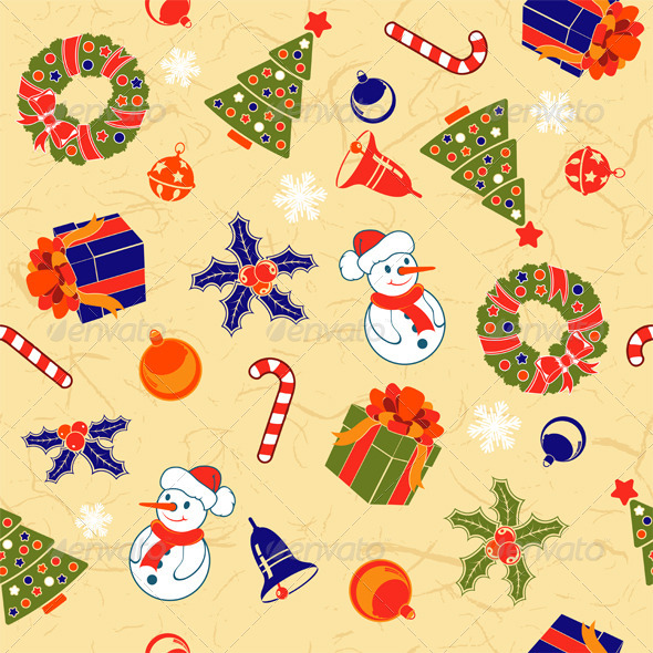 Christmas Seamless Background - Christmas Seasons/Holidays