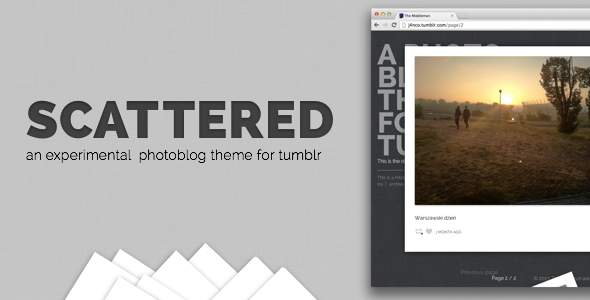 Scattered – A Unique Photography Theme for Tumblr