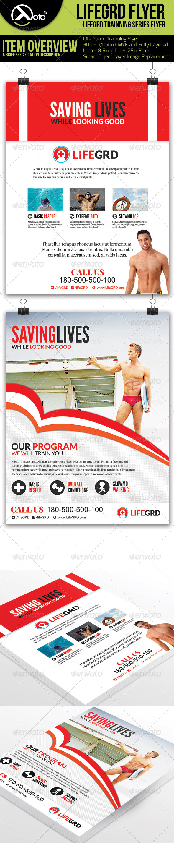 Life Guard Flyer Template - Corporate Flyers