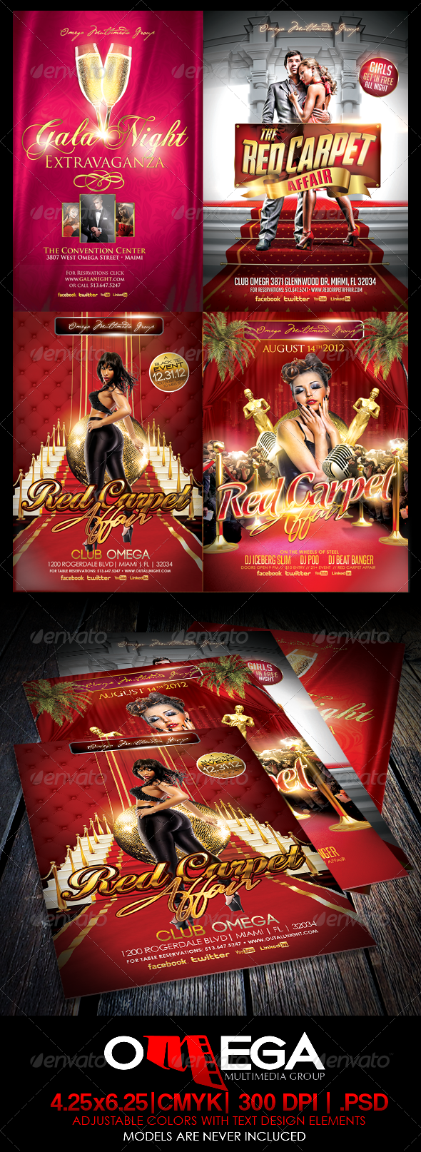 The Red Carpet Bundle - Events Flyers