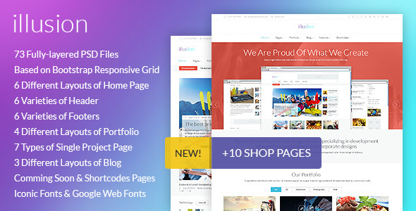 illusion – PSD Template