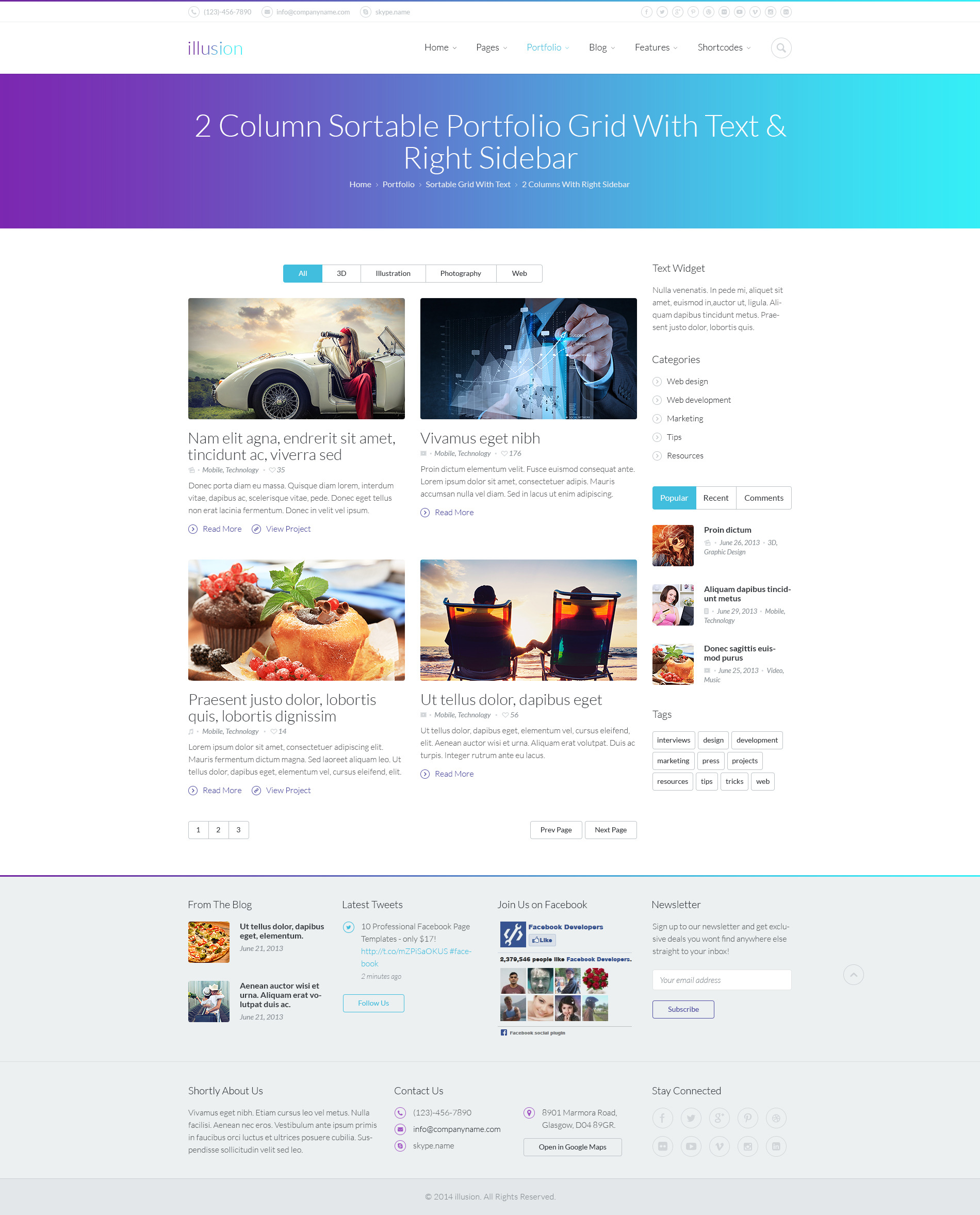 illusion - PSD Template by Monkeysan | ThemeForest