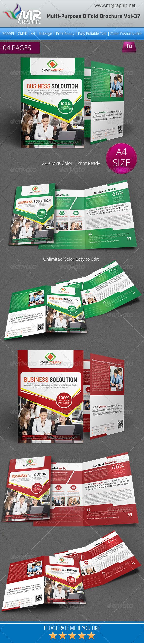 Multipurpose Bifold Brochure Template Vol-37 - Corporate Brochures