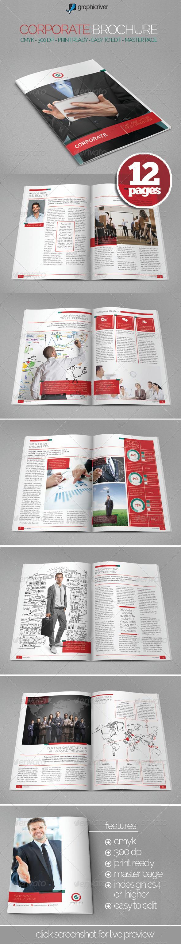 Easy Corporate Brochure - Brochures Print Templates