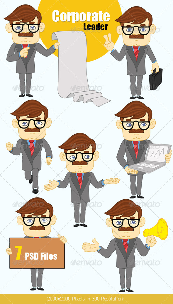 Corporate Leader - Business Illustrations
