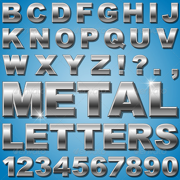 Metal Letters - Miscellaneous Vectors