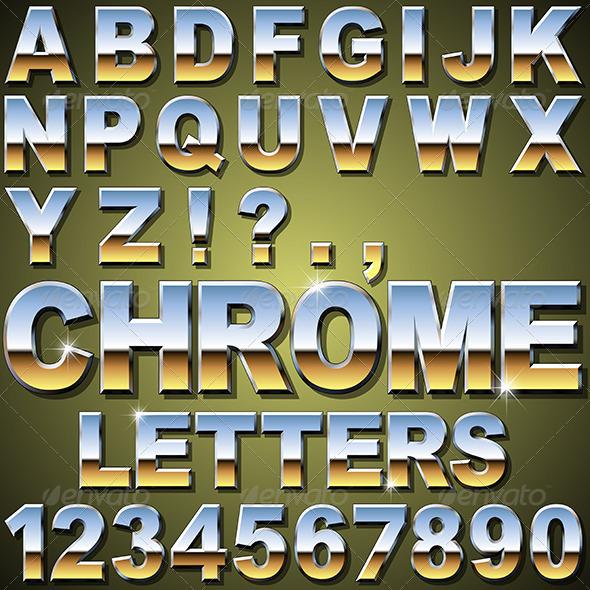 Chrome Letters - Miscellaneous Vectors