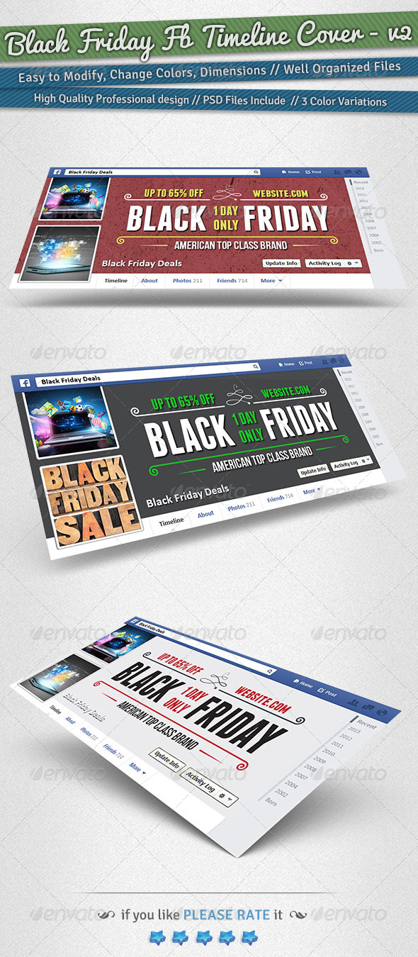 Black Friday / Promotion Timeline Cover | Volume 2 - Facebook Timeline Covers Social Media