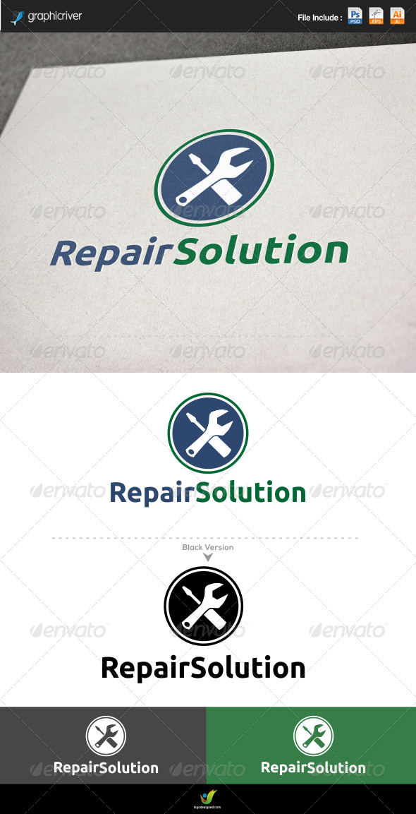 Repair Solution - Symbols Logo Templates