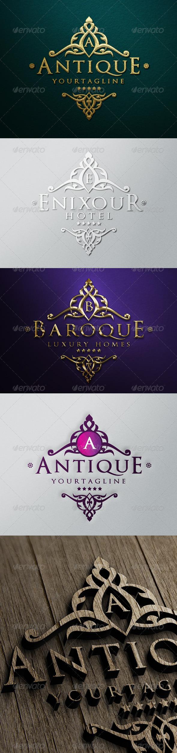 Antique Luxury Logo - Crests Logo Templates