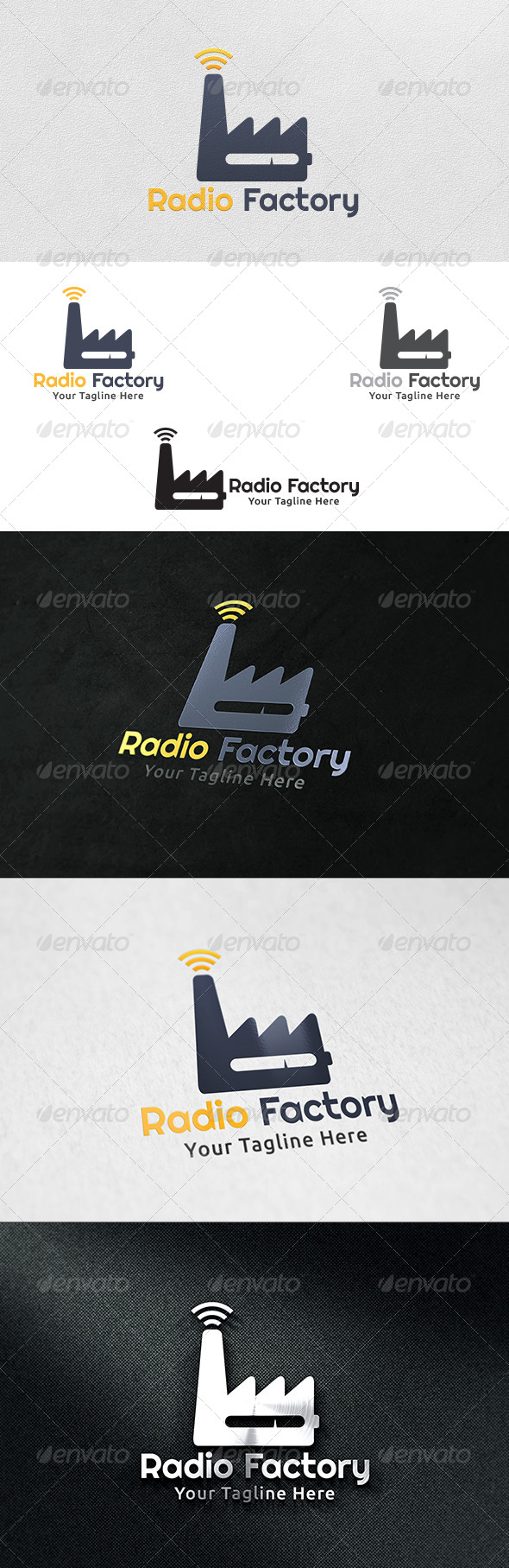 Radio Factory - Logo Template - Buildings Logo Templates