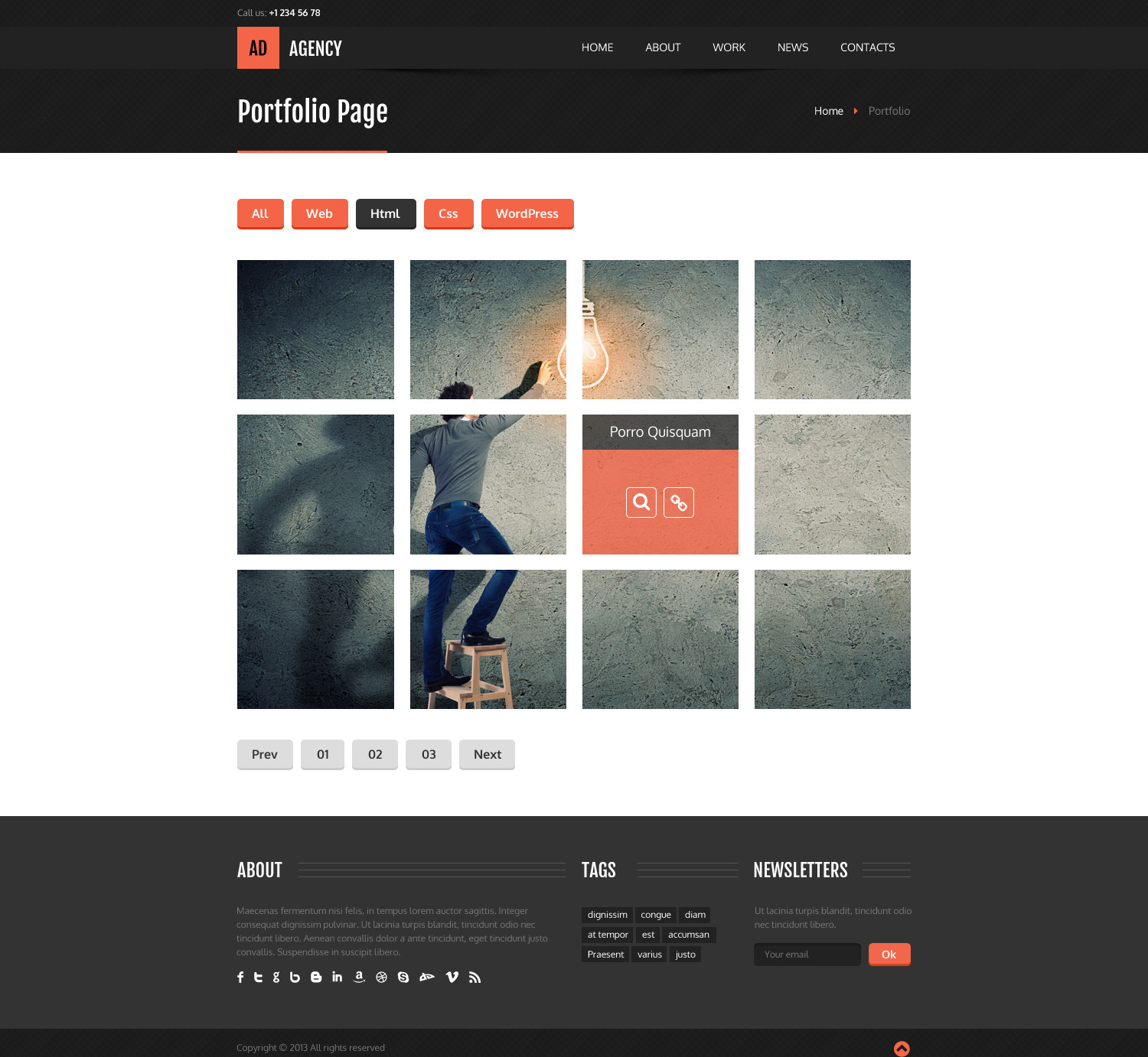AdAgency HTML Template by RivaThemes | ThemeForest
