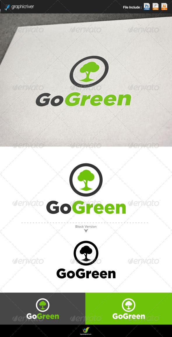 Go Green Tree - Nature Logo Templates