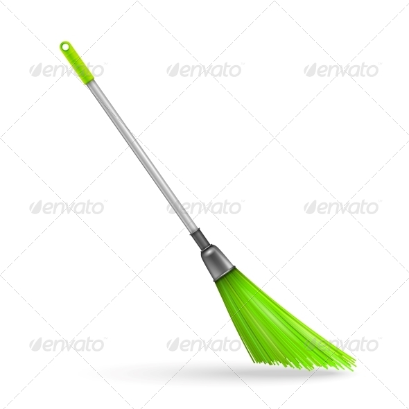 Plastic Garden Broom - Man-made Objects Objects