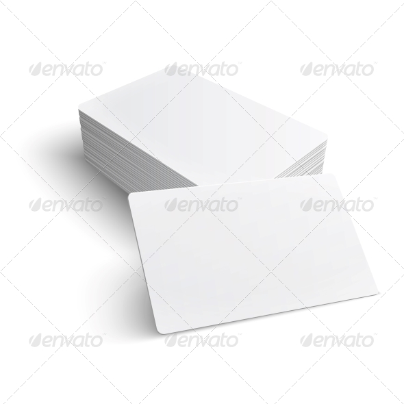Stack of Blank Business Card. - Man-made Objects Objects
