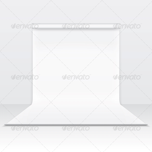 White Paper Studio Backdrop - Backgrounds Decorative