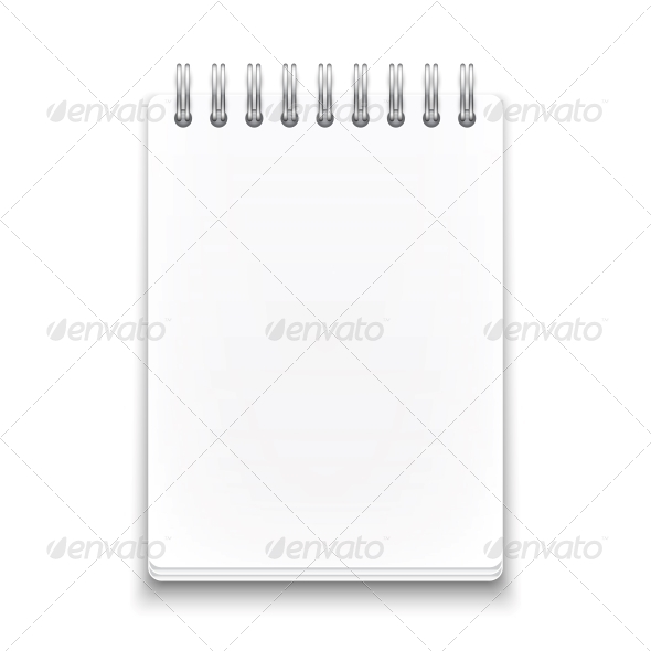 Blank Spiral Notebook - Man-made Objects Objects
