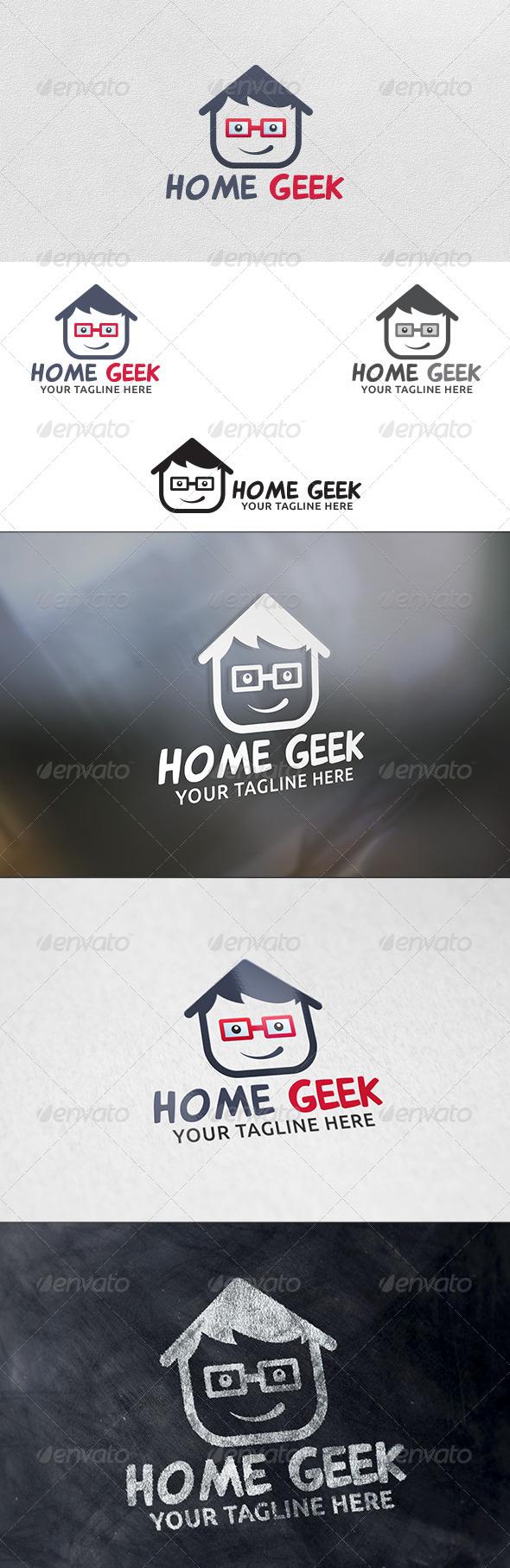 Home Geek - Logo Template - Humans Logo Templates