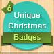 6 Unique Christmas Badges - GraphicRiver Item for Sale