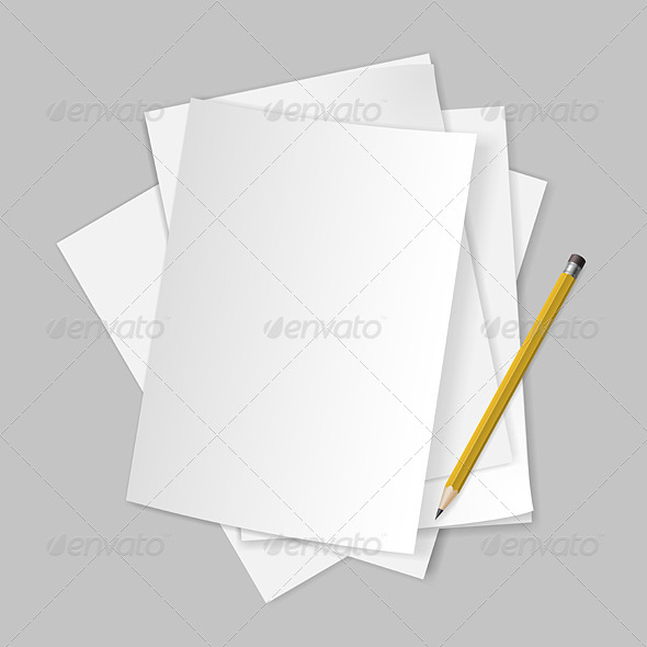Papers and Pencil. - Objects Vectors