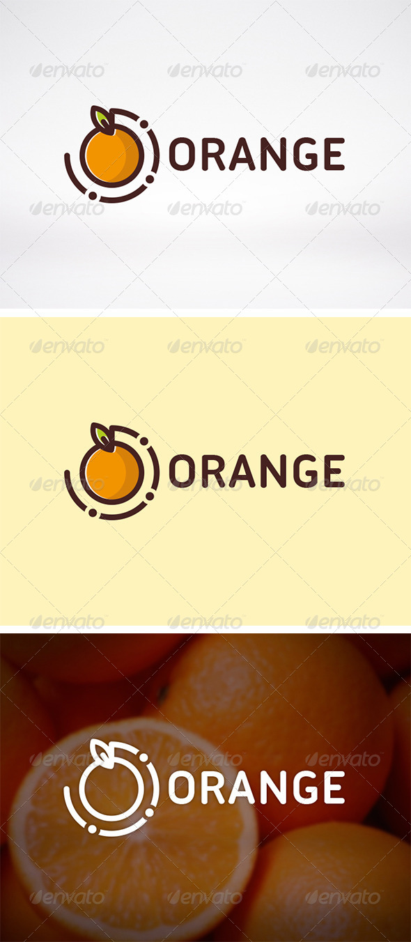 Orange Logo Template - Food Logo Templates